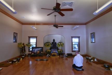 120) Quiet inside the Sala on Kathina Day