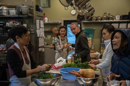 A glimpse into the kitchen.