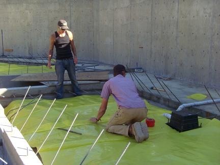 M 7 Vapor Barrier being installed