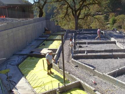 M 8 Vapor Barrier being installed