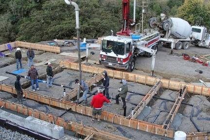 O16 Pumping concrete