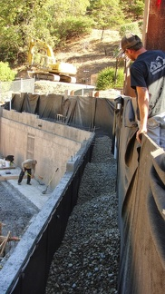 P3 Back filling retaining wall