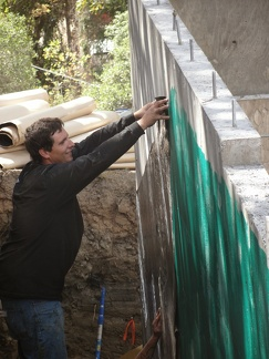 Q8 waterproofing retaining wall