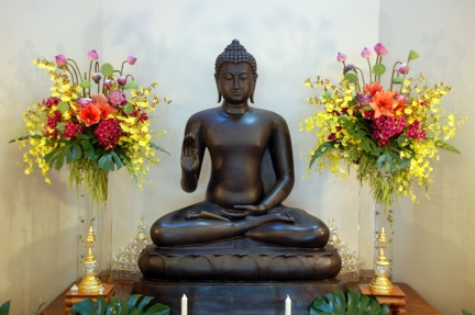 1) Dhamma Hall Shrine on Kathina day