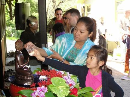 011d) Washing Buddha Rupa on Sonkran Day