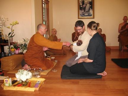 033) Baby blessing of Leo Ananda
