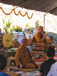 123b) Aj. Jayasaro offering a Dhamm talk on Kathina Day
