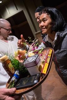 Preparing offerings for Luang Por.