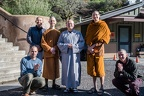 Venerable Guan Zhen takes leave of the monastery for now.