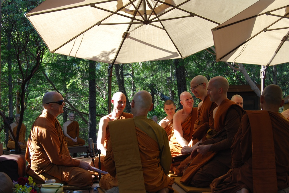 The new Bhikkhus admitted to the Sangha