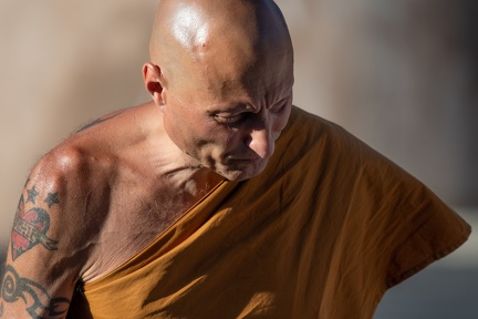 Sāmaṇera Rakkhito always working hard