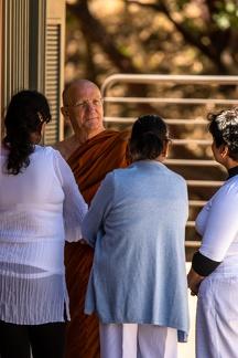 Luang Por receiving visitors.