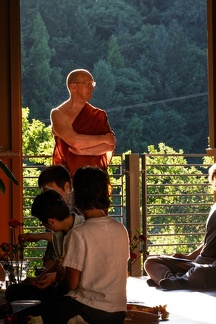 Luang Por overseeing preparations