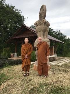 Luang Por Pasanno and Ajahn Jayasaro