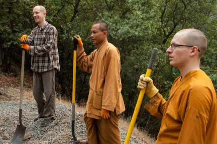 At work building the new walking-meditation path