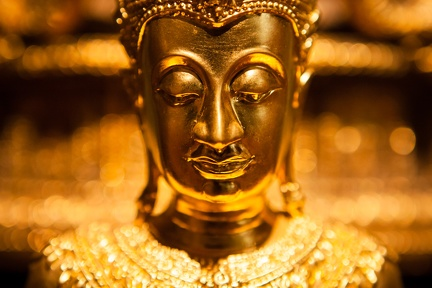 A Buddha image in the Abhayagiri shrine room