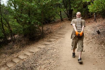 Working on a new walking meditation path