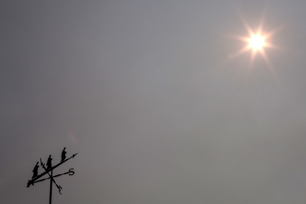 The summer heat has been cooled by a haze of smoke from the nearby Ranch and River fires