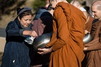 Offering alms to the monks