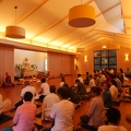 Gathering in the hall before meditation