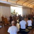 Puja and meditation followed by a Dhamma talk