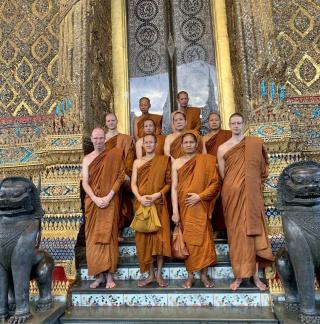 Ajahn Kongrit, Ajahn MahaDisak, Ajahn Kevali and the Wat Pah Nanachat Sangha