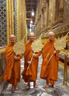 Luang Por, Ajahn Amaro, and Ajahn Jayasaro
