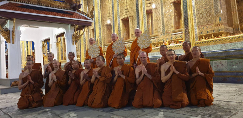 With the Wat Pah Nanachat Sangha