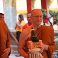 Luang Por and Ajahn Amaro going to pay respects to the Supreme Patriarch
